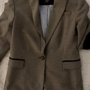 Jackets & Blazers - Plaid Notch Collar Blazer